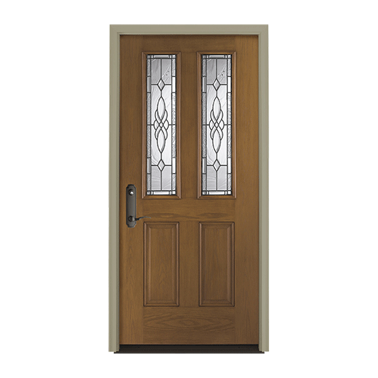 Pella Twin 1/2 Light Entry Door with Glass